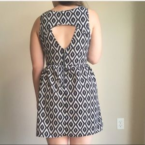 One Clothing open back chevron dress